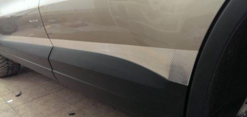 оклейка пленкой хром карбон volkswagen tiguan полосы