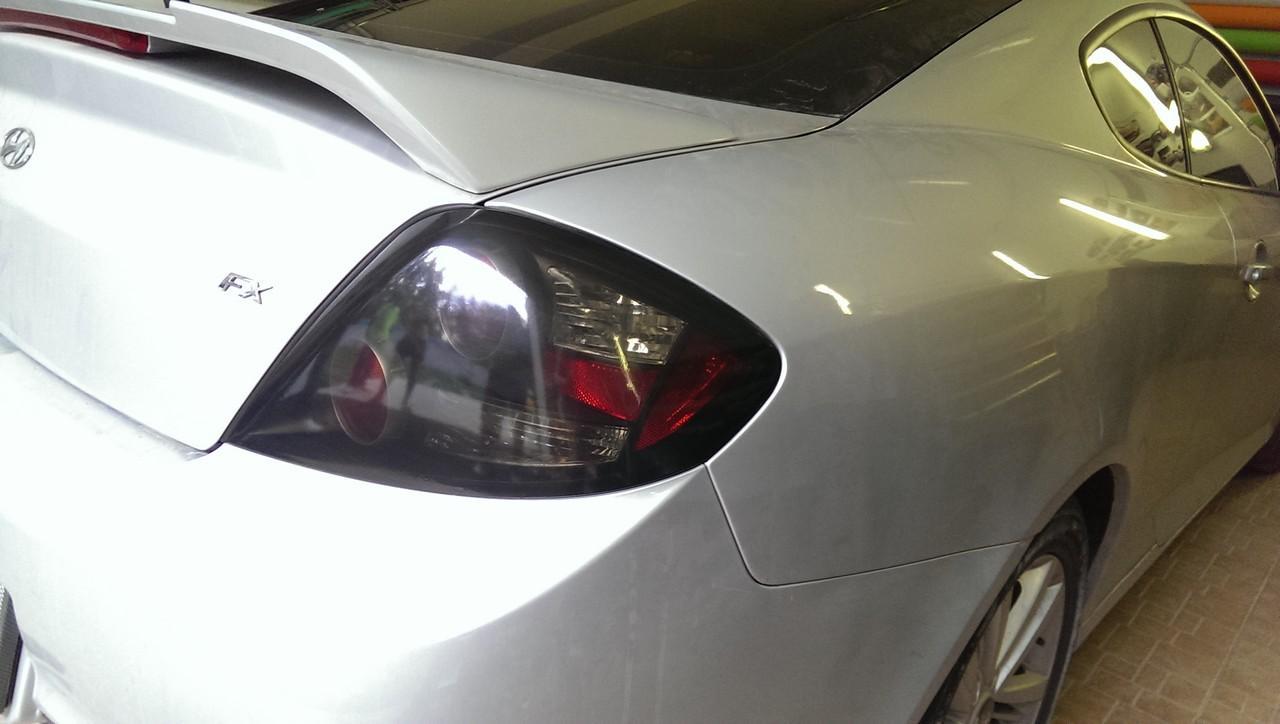 тонировка оклейка фар стопов пленкой Hyundai Coupe