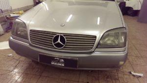 оклейка пленкой Mercedes-Benz CL500 тонировка фар пленкой
