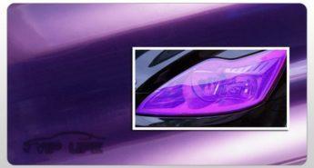 фиолетовая пленка для тонировки фар, на фары