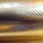 Золотой 4д хром карбон под лаком глянцевый 1,52м