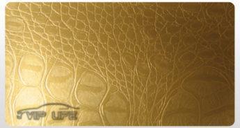 Пленка под кожу аллигатора золотая-leather-gold-alligator