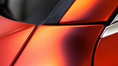 оранжевый матовый хром пленка