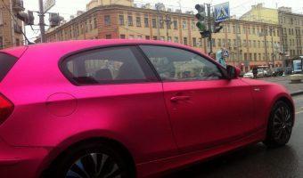 розовый матовый хром пленка