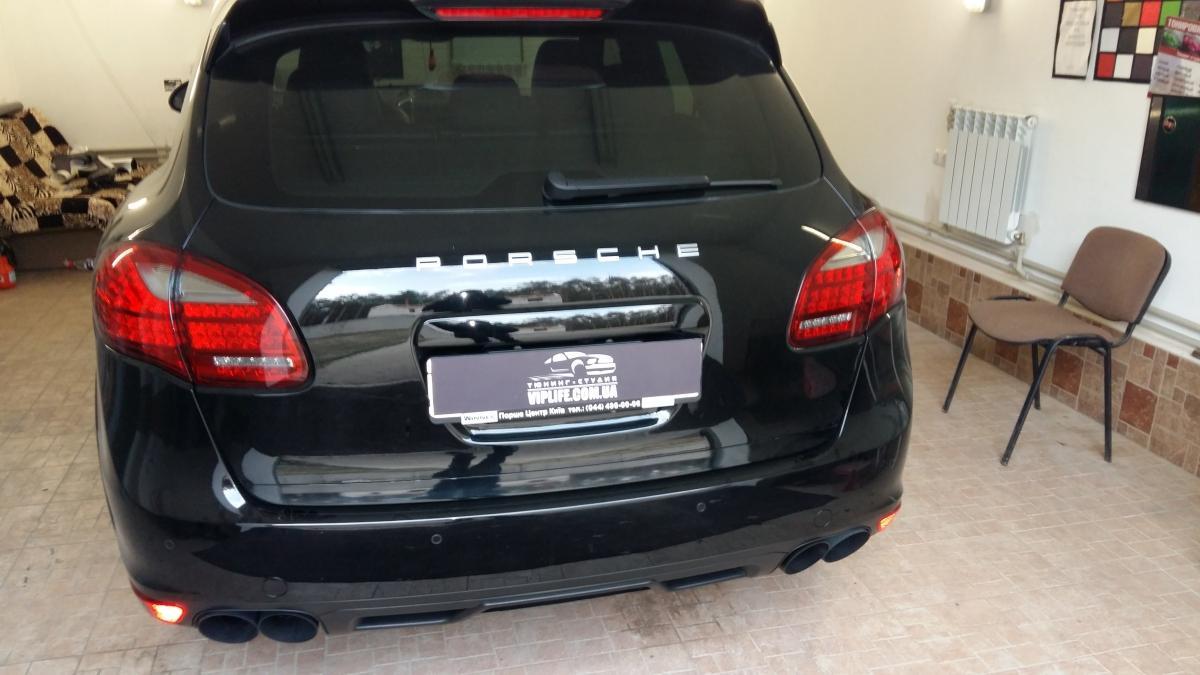 снятие антигравийной защитной пленки с porsche cayenne - расклейка авто
