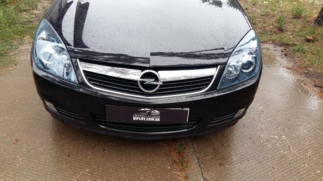 Оклейка фар Opel vectra защитной тоировочной пленкой skl