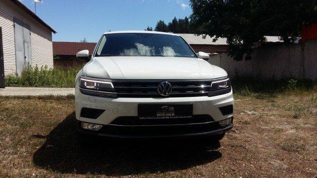VW TIGUAN NEW 2017 - антигравийная защита кузова антигравиной защитной бронепленкой