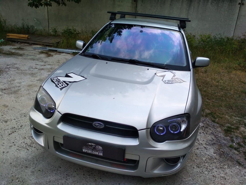 Subaru WRX Тонировка лобового стекла атермальной антибликовой пленкой Хамелеон UltraVision Blue Light 93% Ирпень, Киев, Буча, Гостомель
