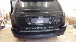 range rover оклейка тонировка фар и задних стопов пленкой, тонировка лобового стекла