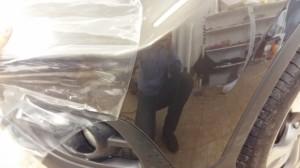 Honda CR-V - переклейка части бампера