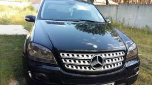 Mercedes GL500 - тонировка фар светло-черной бронепленкой Skl-USA
