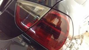 тонирование передних фар и задних фонарей на bmw 320 пленкой